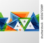 modern geometrical triangle... | Shutterstock . vector #603672089