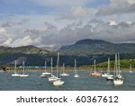 a view of barmouth harbour with ...