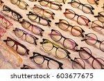 eyeglasses on sale in wide... | Shutterstock . vector #603677675