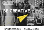 creative thinking creativity... | Shutterstock . vector #603678551