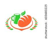 breakfast foods clip art set | Shutterstock .eps vector #603683225