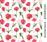 elegant seamless pattern with... | Shutterstock .eps vector #603683264