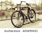 vintage bike | Shutterstock . vector #603690431