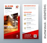 dl flyer design layout. dl... | Shutterstock .eps vector #603693341