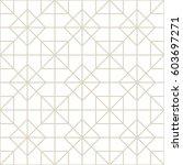 art deco seamless background. | Shutterstock .eps vector #603697271