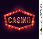 casino banner on a shining... | Shutterstock .eps vector #603699539