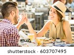 couple in love having fun at... | Shutterstock . vector #603707495