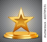 gold award in the form of star... | Shutterstock .eps vector #603709151