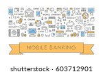 line web banner for mobile... | Shutterstock .eps vector #603712901
