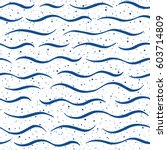 waves with spray texture... | Shutterstock .eps vector #603714809