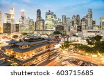 high view of singapore skyline... | Shutterstock . vector #603715685