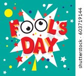 april fool's day  | Shutterstock .eps vector #603719144