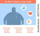 obesity vector illustration... | Shutterstock .eps vector #603719441