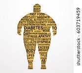 obesity vector illustration... | Shutterstock .eps vector #603719459
