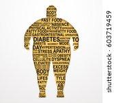 obesity vector illustration... | Shutterstock .eps vector #603719459