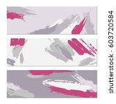 set of creative universal art... | Shutterstock .eps vector #603720584