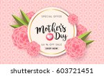 mothers day sale background... | Shutterstock .eps vector #603721451
