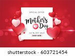 mothers day sale background... | Shutterstock .eps vector #603721454