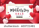 mothers day sale background...   Shutterstock .eps vector #603721481