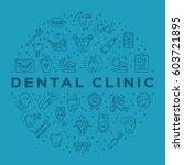 dental clinic circle...   Shutterstock .eps vector #603721895
