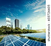 solar panels in the city | Shutterstock . vector #603726605