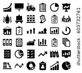 report icons set. set of 36... | Shutterstock .eps vector #603732761