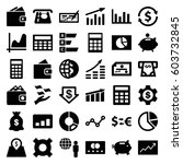economy icons set. set of 36... | Shutterstock .eps vector #603732845