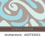 book cover template with... | Shutterstock .eps vector #603733421