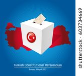 turkish constitutional... | Shutterstock .eps vector #603734669