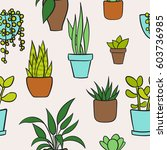 vector seamless pattern with... | Shutterstock .eps vector #603736985