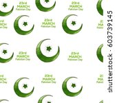 23 of march pakistan day... | Shutterstock .eps vector #603739145