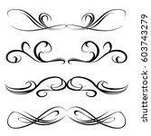 decorative monograms and...   Shutterstock .eps vector #603743279