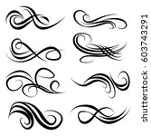 decorative monograms and... | Shutterstock .eps vector #603743291