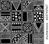 seamless vector pattern. black... | Shutterstock .eps vector #603745967