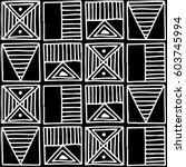 seamless vector pattern. black... | Shutterstock .eps vector #603745994