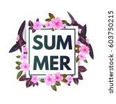 summer tropical flyer design... | Shutterstock .eps vector #603750215