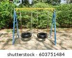 Swing Made Of Wheel At...