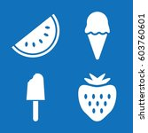set of 4 sweet filled icons...   Shutterstock .eps vector #603760601