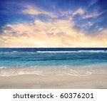 sunset over the sea | Shutterstock . vector #60376201