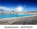 Swimming Pool With Shining Sun...