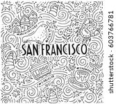 the san francisco words and the ...   Shutterstock .eps vector #603766781