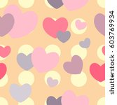 colorful hearts seamless...   Shutterstock .eps vector #603769934