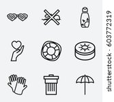 protection icon. set of 9...   Shutterstock .eps vector #603772319