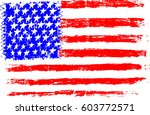 american flag  pencil drawing... | Shutterstock . vector #603772571