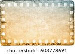 vintage film strip frame on old ... | Shutterstock . vector #603778691