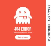 404 error the page not found...   Shutterstock .eps vector #603779519