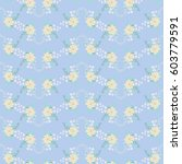 flowery tracery pattern in... | Shutterstock .eps vector #603779591