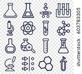 Scientific Icons Set. Set Of 1...