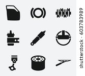 part icon. set of 9 part filled ... | Shutterstock .eps vector #603783989