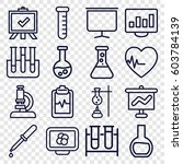 analysis icons set. set of 16... | Shutterstock .eps vector #603784139